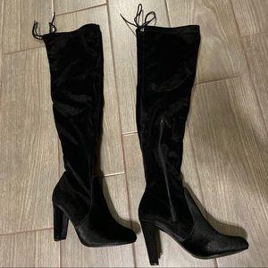 Black Velvet Boots!